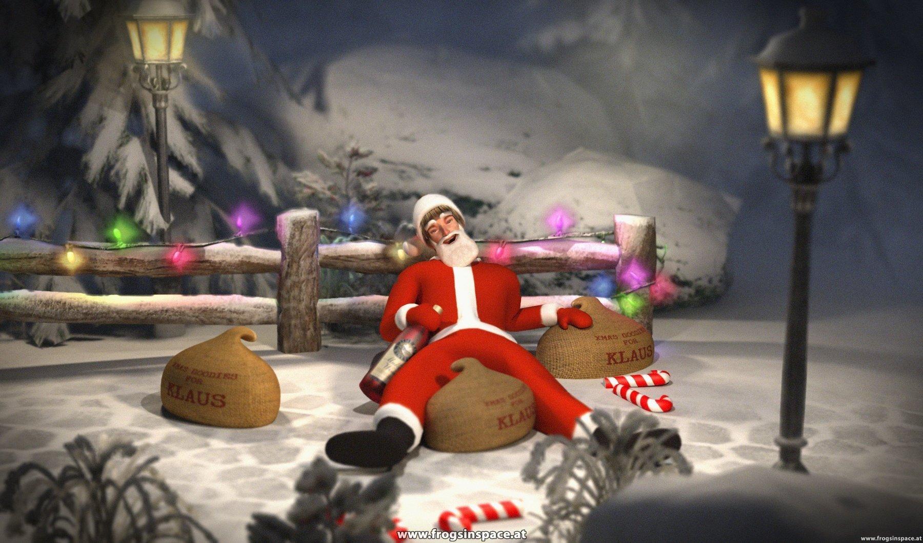Drunken Santa: Teaser render