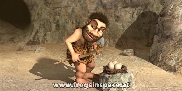 Caveman animation re-rendered …