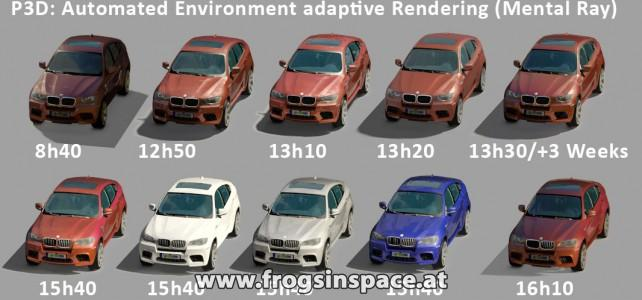 Research: automated realworld-environment matching rendering and compositing